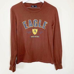 American Eagle L Long Sleeved Graphic T-Shirt